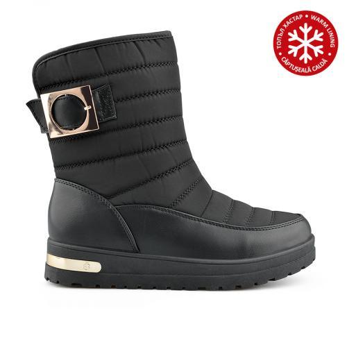 дамски ежедневни  ботуши черни с топъл хастар 0138925