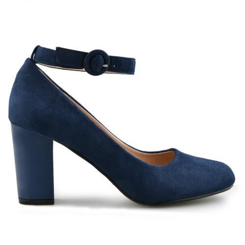 дамски елегантни обувки сини 0140889