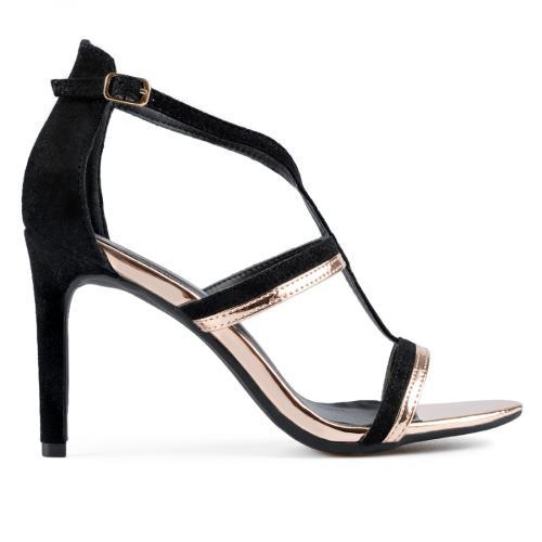 дамски елегантни сандали черни 0137652