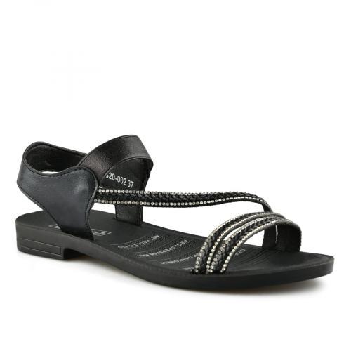 дамски ежедневни сандали черни 0140556