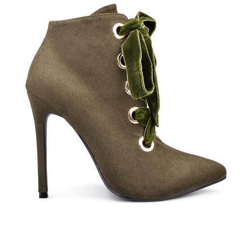 дамски елегантни боти зелени 0132569