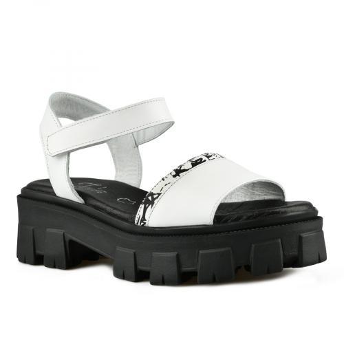 дамски ежедневни сандали бели 0141286