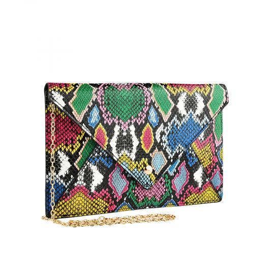 дамска елегантна чанта цветна 0140916