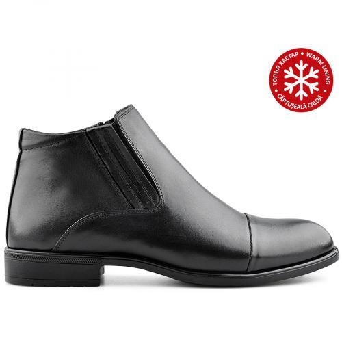 мъжки елегантни боти черни с топъл хастар 0139525