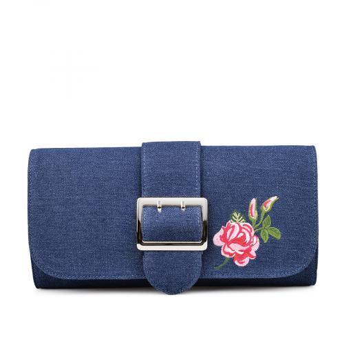 дамска елегантна чанта синя 0132265