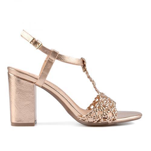 дамски елегантни сандали златисти 0137649