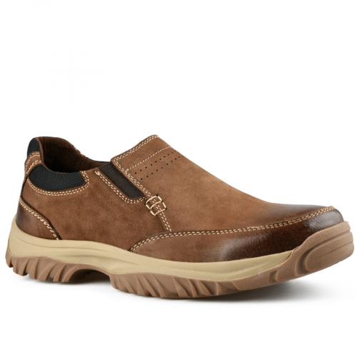 мъжки ежедневни обувки кафяви 0142111