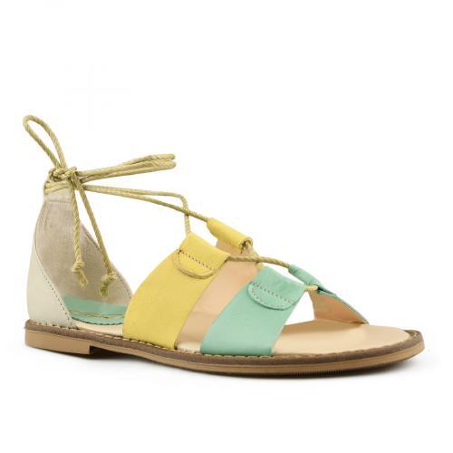дамски ежедневни сандали жълти 0144415