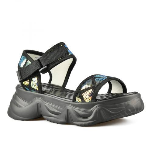 дамски ежедневни сандали черни 0143406