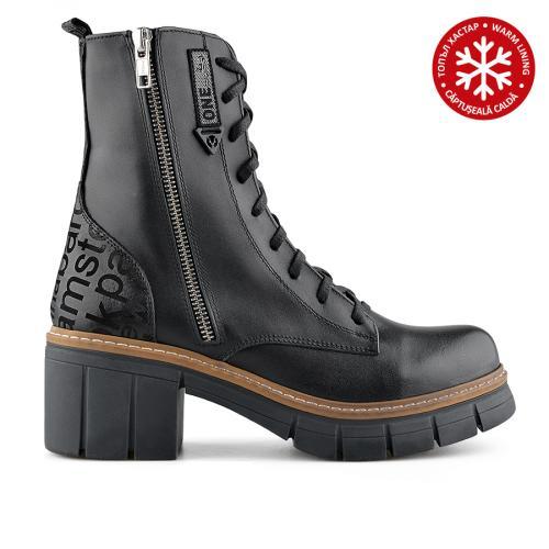 дамски ежедневни боти черни с топъл хастар 0139433