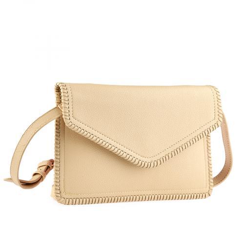 дамска елегантна чанта бежова  0140907