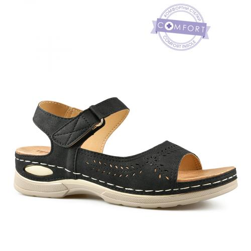 дамски ежедневни сандали черни 0143291