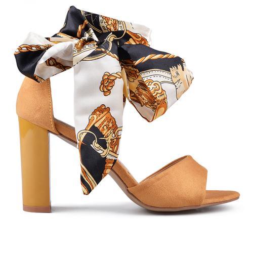 дамски елегантни сандали жълти 0134632
