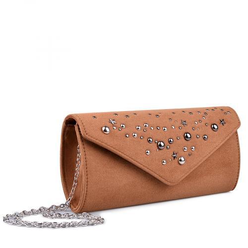 дамска елегантна чанта кафява 0134391