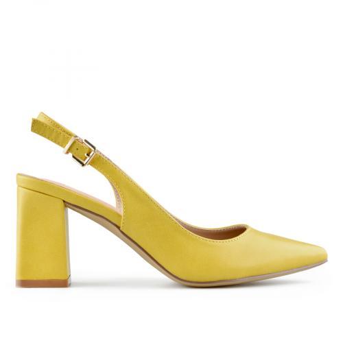 дамски елегантни сандали жълти 0140019