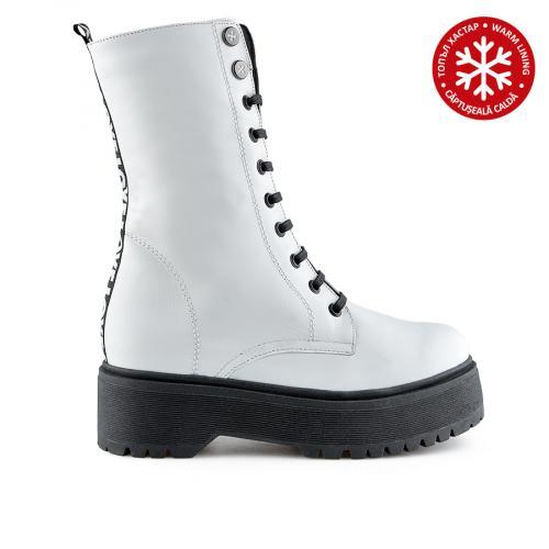 дамски ежедневни боти бели с топъл хастар 0139554
