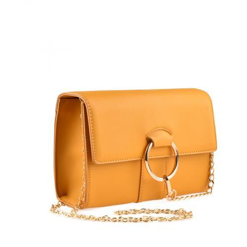 дамска ежедневна чанта тъмно жълта  0139913