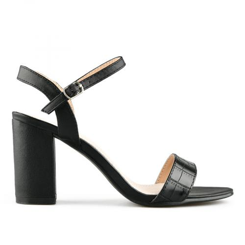 дамски елегантни сандали черни 0140710