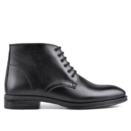 мъжки елегантни боти с топъл хастар черни 0129028