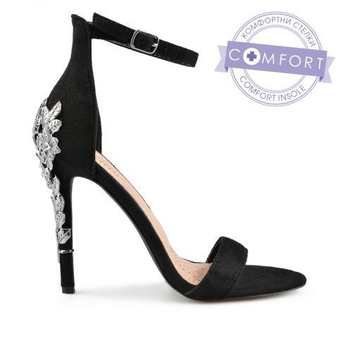 дамски елегантни сандали черни 0137538