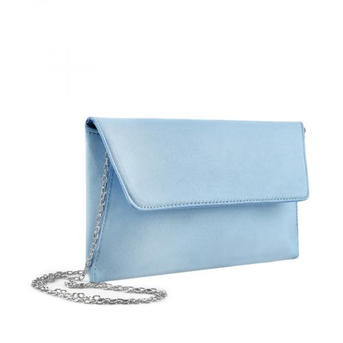 дамска  елегантна чанта синя 0136737
