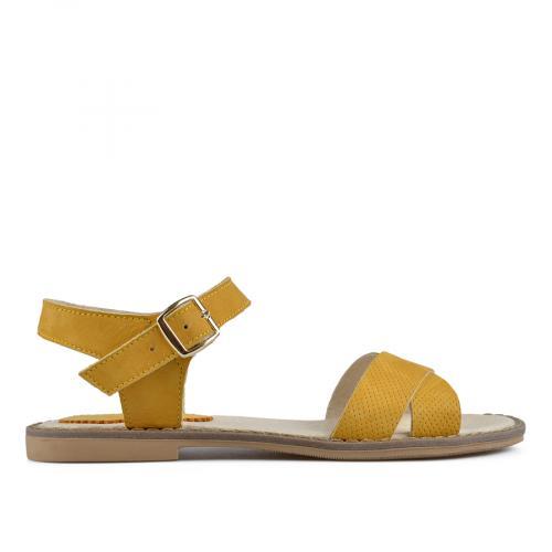 дамски ежедневни сандали жълти 0138520