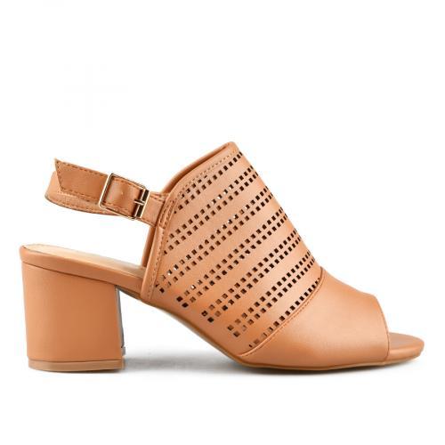 дамски елегантни сандали кафяви 0143270