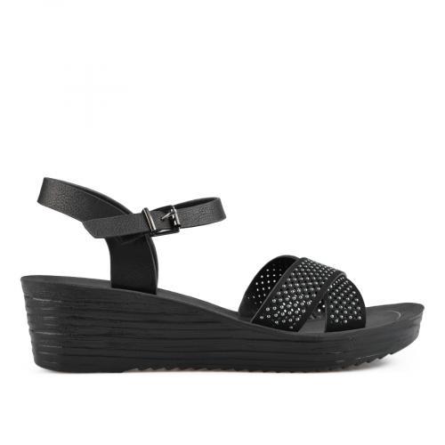 дамски ежедневни сандали черни 0137596