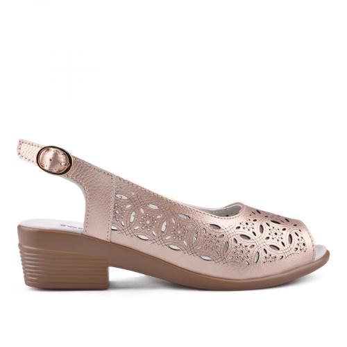 дамски ежедневни сандали златисти 0134159
