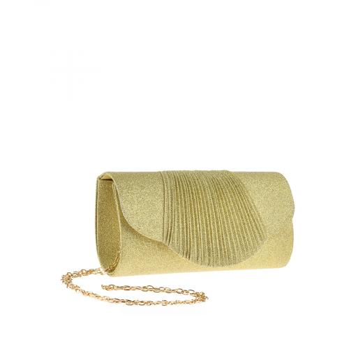 дамска елегантна чанта златиста 0143806