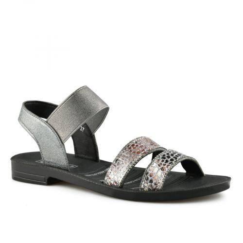 дамски ежедневни сандали сребристи 0140567