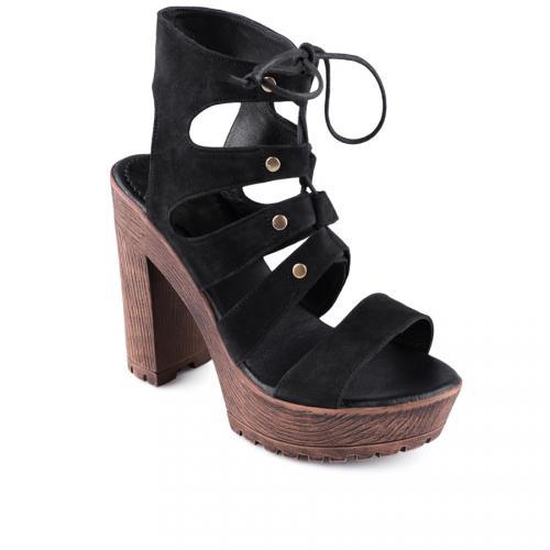 дамски ежедневни сандали черни 0128510