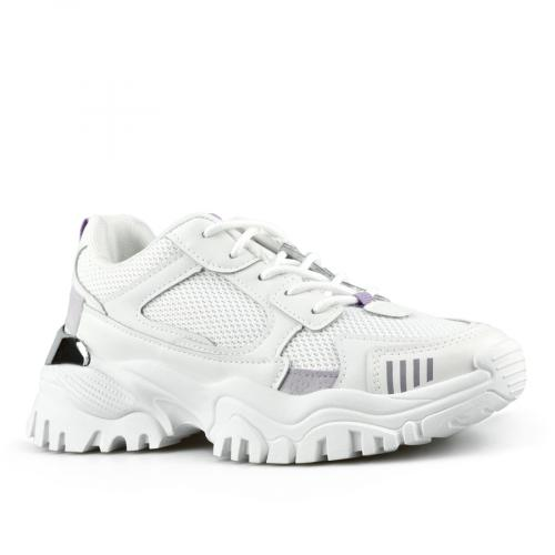 дамски маратонки бели с платформа 0142784
