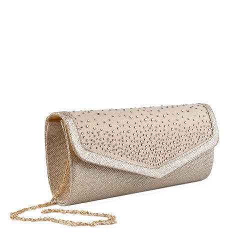 дамска елегантна чанта златиста 0136798