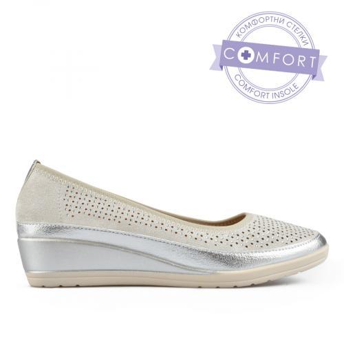 дамски ежедневни обувки сребристи 0137672