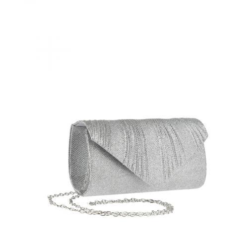 дамска елегантна чанта сребриста 0143808