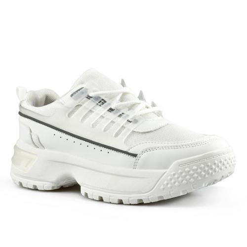 дамски маратонки бели с платформа 0142788