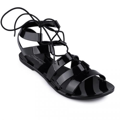 дамски ежедневни сандали черни 0127237