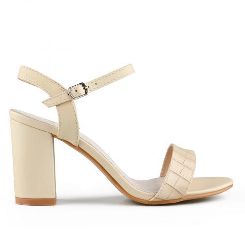 дамски елегантни сандали бежови 0140711