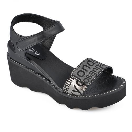дамски ежедневни сандали черни 0138534