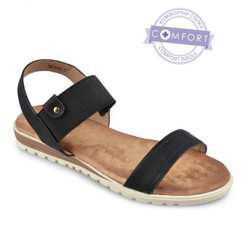дамски ежедневни сандали черни 0140231