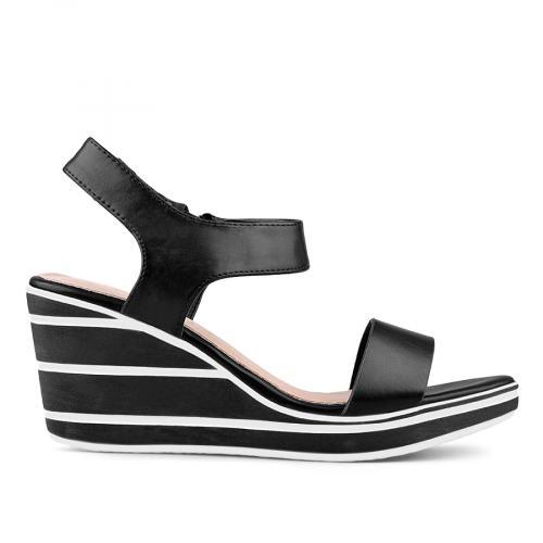 дамски ежедневни сандали черни 0134359