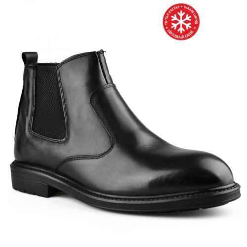 мъжки елегантни боти черни 0142215