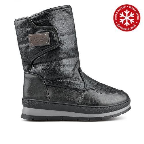 дамски ежедневни  ботуши черни с топъл хастар 0135542