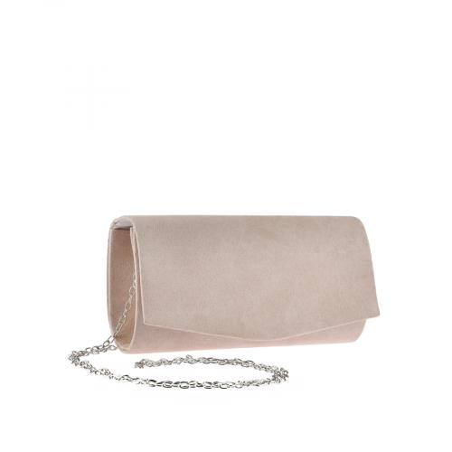 дамска елегантна чанта бежова 0143763