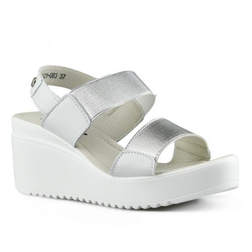 дамски ежедневни сандали сребристи 0142517