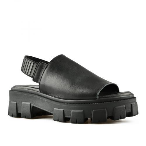 дамски ежедневни сандали черни 0144497