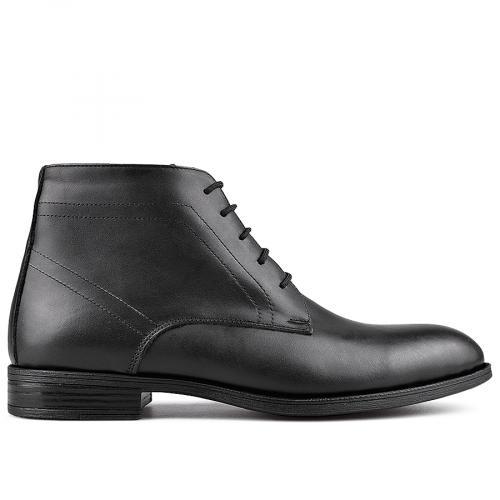 мъжки елегантни боти черни с топъл хастар 0130106