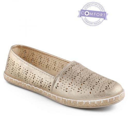 дамски ежедневни обувки златисти 0142572