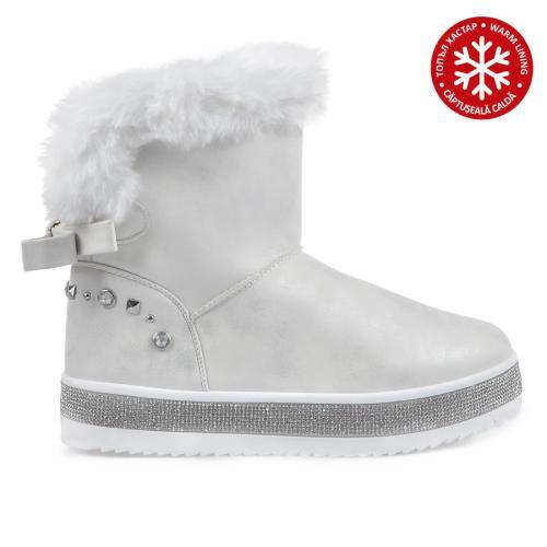 дамски ежедневни боти бели с топъл хастар 0135536